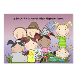 Custom Boys and Girls Nature Hike Birthday Invite