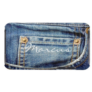 Custom boys name denim jeans ipod touch 4g case Case-Mate iPod touch case