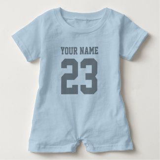 Custom boys sports football jersey baby romper baby bodysuit