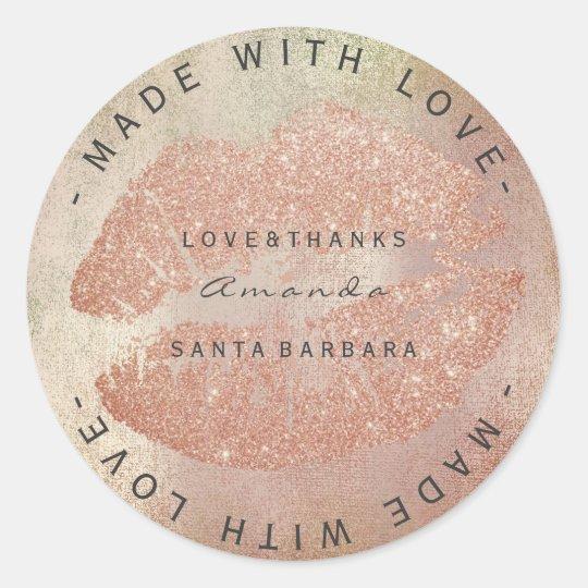 Custom Branding Thanks Kiss Rose Gold Lips Skin
