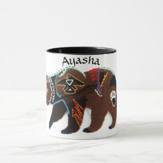 Custom Brave Bear Beaded Mug