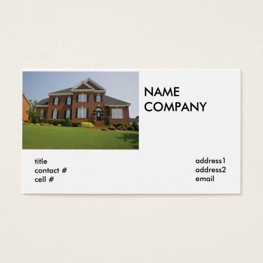 custom brick home business card