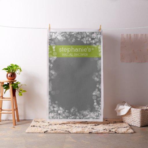 Custom Bridal Shower Photo Backdrop Charcoal Bokeh