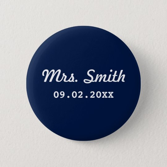 Custom Bridal Wedding 6 Cm Round Badge