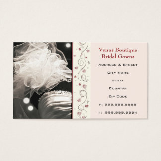 Custom Bridal / Wedding Dress Business Card