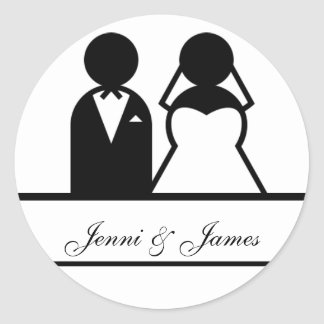 Custom Bride Groom Names Wedding Favour Stickers