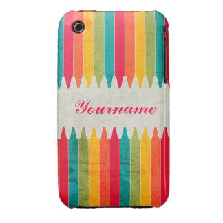 Custom Bright Crayons Case-Mate iPhone 3 Case