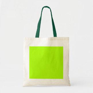 Custom Bright Lime Green Tote Bag