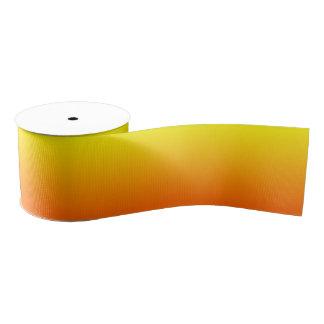 Custom Bright Orange Ombre Grosgrain Ribbon