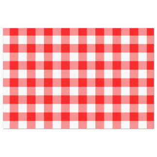 Custom Bright Red Gingham Tissue Paper