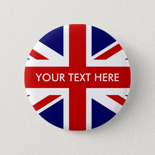 Custom British Union Jack badge pin buttons