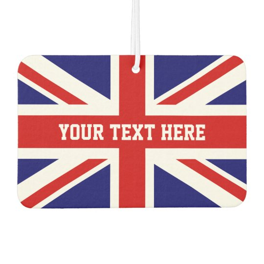 Custom British Union Jack flag car air freshener