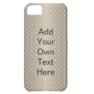 Custom Bronze Diamond Plate iPhone 5C Case