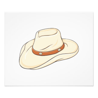 Custom Brown Bolo Cowboy Hat Invitation Postage Photographic Print