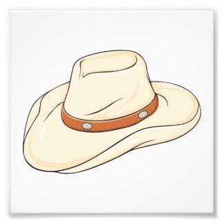 Custom Brown Bolo Cowboy Hat Invitation Postage Photo Print
