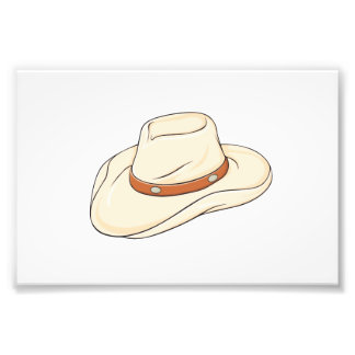 Custom Brown Bolo Cowboy Hat Playing Cards Pillows Photographic Print
