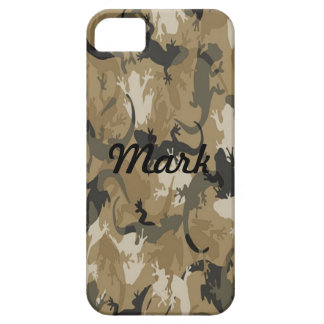 Custom Brown Reptile Camo iPhone 5 Case