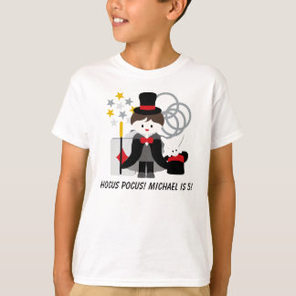 Custom Brunette Boy Hocus Pocus Magic T-shirt