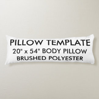 Custom Brushed Polyester Body Pillow Template