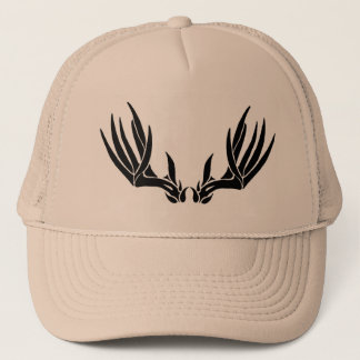 Custom Buck Antler Trucker Hat