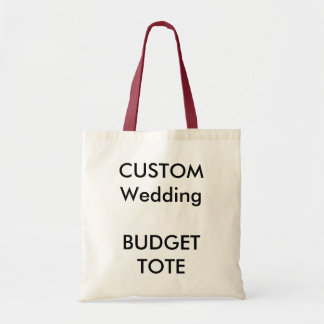 Custom Budget Tote Bag (RED Color Handles)