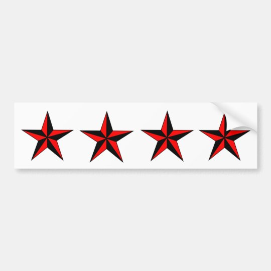 Custom Bumper Stickers .. Red Nautical Stars