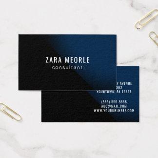 Custom Business Card Black Blue Navy Modern Simple