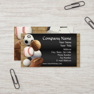College coach business cards business card printing zazzle uk custom business card design online sports theme business card reheart Gallery