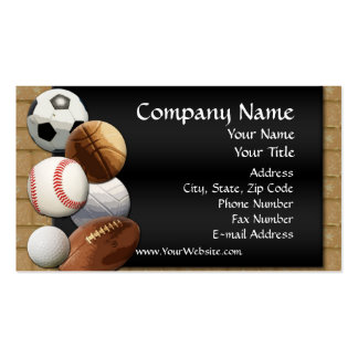 Custom Business Card, Design Online Sports Theme Pack Of Standard Business Cards