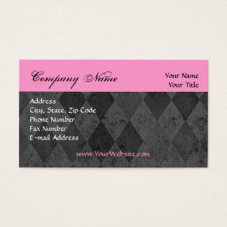 Custom Business Card, Pink and Black Design