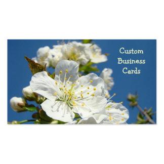 Custom Business Cards Cherry Blossoms Blue Sky