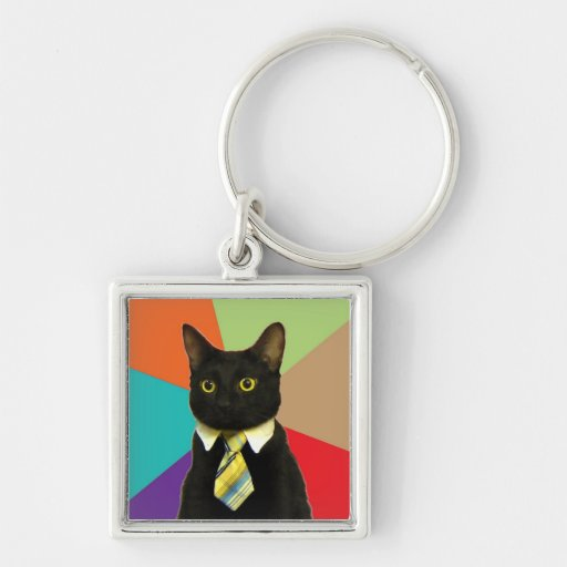 Custom Business Cat Keychain