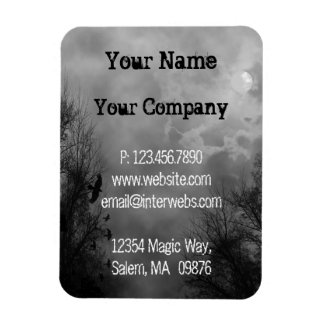 Custom Business Grungy Haunted Sky Magnets