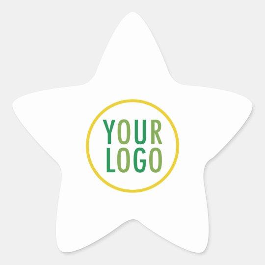 Custom Business Logo Branded Promotional Star Sticker