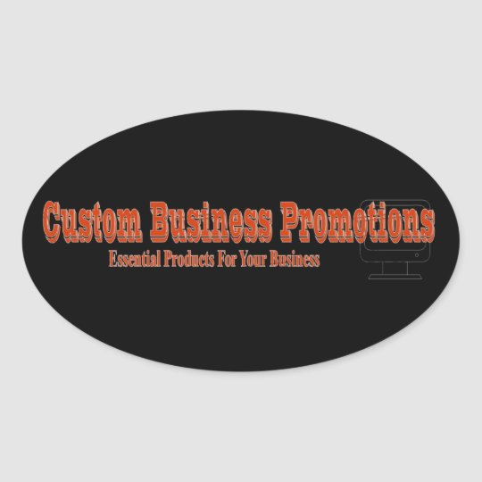 Custom Business Logo Oval Sticker