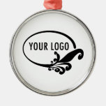 Custom Business Logo Products Silver-Colored Round Decoration