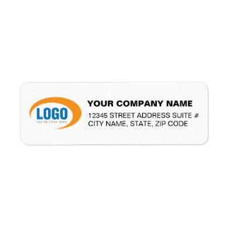 Custom Business Logo Return Address Labels