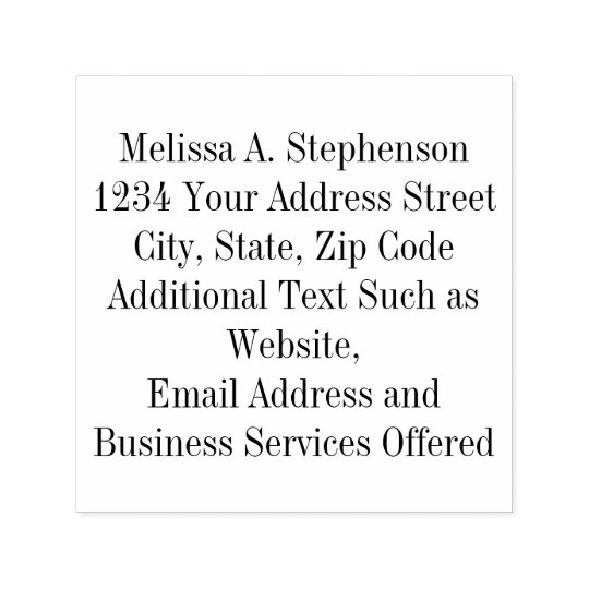 Custom Business Personal Stamp 7 Lines of Text