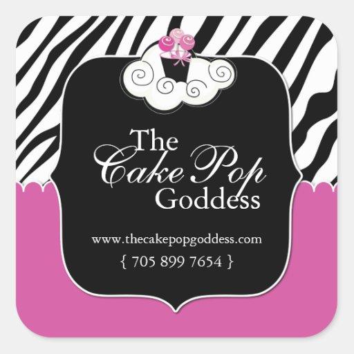Custom Cake Pop Labels Square Sticker