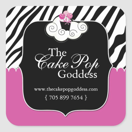 Custom Cake Pop Labels Square Stickers