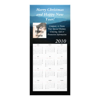 Custom Calendar Rack Card, Christmas/New Year Rack Card