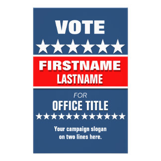Custom Campaign Political Template Flyer