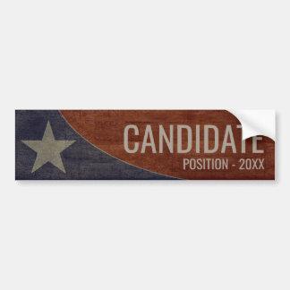 Custom Campaign - Rustic Lone Star Background Bumper Sticker