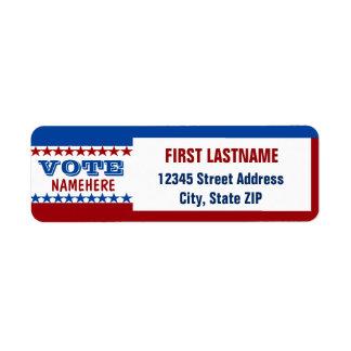 Custom Campaign Template Return Address Label