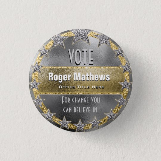 Custom Campaign Template Silver and Gold 3 Cm
