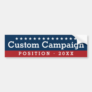 Custom Campaign - Traditional Design with Position Bumper Sticker