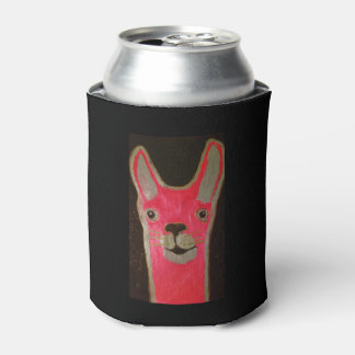 Custom Can Cooler with Happy Llama