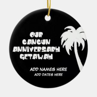 Custom Cancun Anniversary Gift Christmas Ornament