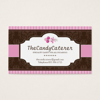 CUSTOM Candy Caterer Business Card