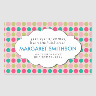Custom Canning, Baking or Product Labels Rectangular Sticker